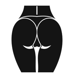 Buttocks of girl icon simple style vector