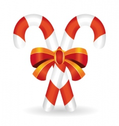 candy cane vector image vector image