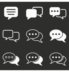 Chatting icon set vector image