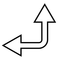 Choice Arrow Left Up Stroke Icon vector image