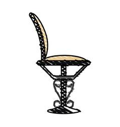 color crayon stripe elegant dining chair vector image vector image