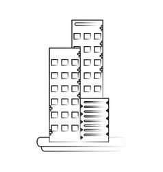 Cosmopolitan business buildings vector