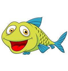 Cute fish cartoon vector