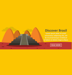 Discover brasil banner horizontal concept vector