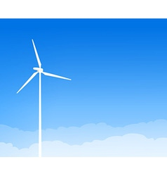 Eco Wind Turbine and Blue Sky vector image