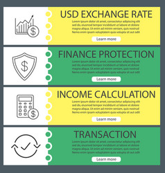 Economics web banner templates set vector