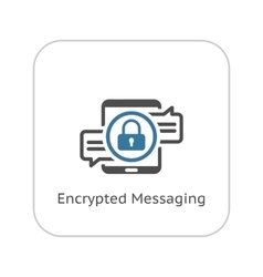 Encrypted Messaging Icon Flat Design vector image