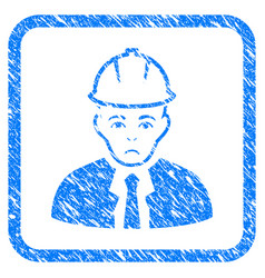 Engineer framed stamp vector