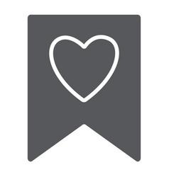 favourite glyph icon mark and favorite bookmark vector image