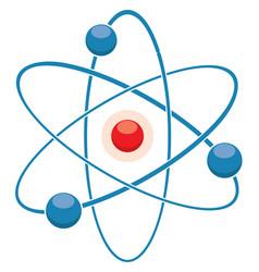 flat icon abstract atom or molecule model vector image