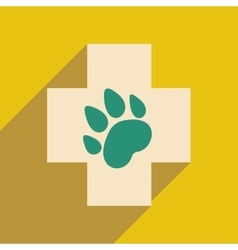 Flat with shadow icon and mobile application vector
