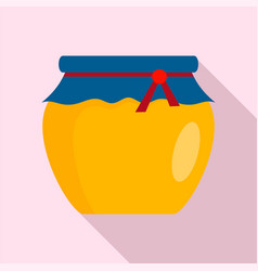 glass jar of honey icon flat style vector image