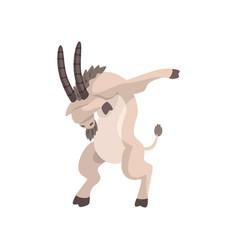 Goat standing in dub dancing pose cute cartoon vector