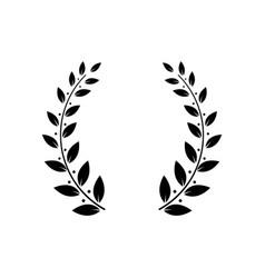 greek laurel or olive winner award wreath or leaf vector image