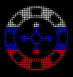 Halftone russian roulette casino chip icon vector