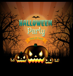 hallooween party card vector image