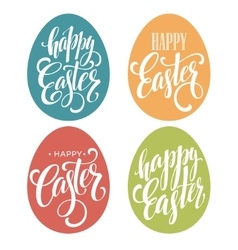Happy Easter Egg lettering vector