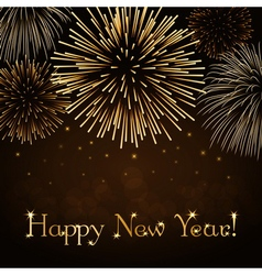 Happy new year firework background vector