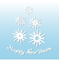 Happy New Year Greeting card with snowflakes vector