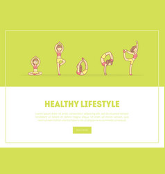 healthy lifestyle banner landing page template vector image