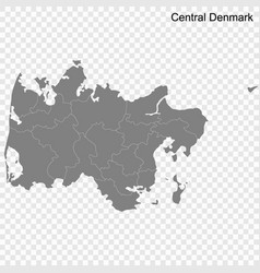 high quality map is a region denmark vector image