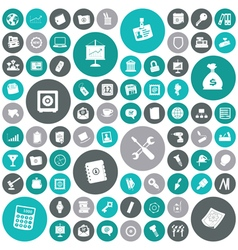 Icons for business and industrial vector