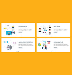 Inbox message and email notification vector