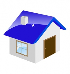 little house vector image vector image