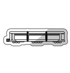 locomotive train transport passenger cut line vector image