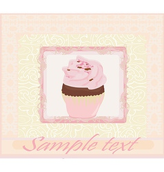 Lovely Cupcake Design card vector image
