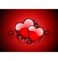 Lovely hearths vector