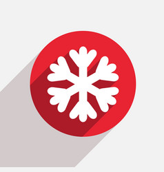 modern snowflake red circle icon vector image