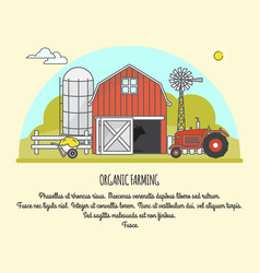 organic farming in linear vector image