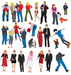 people illustrations vector image