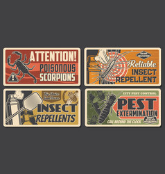 pest extermination repellents scorpio attention vector image