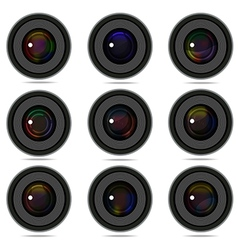 Photography camera lens vector