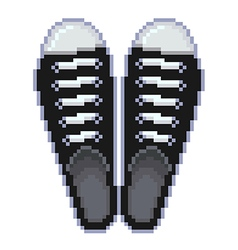Pixel gumshoes isolated vector image