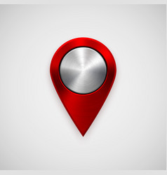 red technology gps map pointer vector image