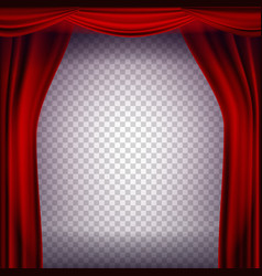 red theater curtain transparent background vector image