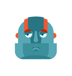 robot sad emoji cyborg sorrowful emotions robotic vector image