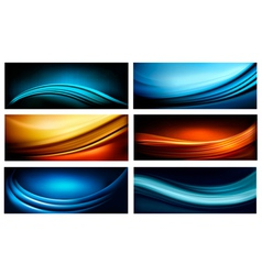 Set business elegant colorful abstract vector