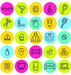 set of different shop icons vector image