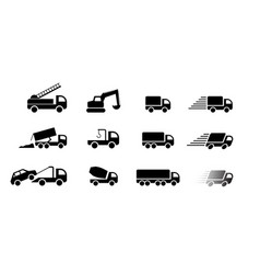 set truck service icon and sign art vector image