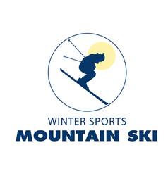 sport winter sports mountain ski white background vector image