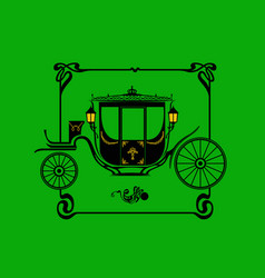 stylized drawing a victorian brougham carriage vector image