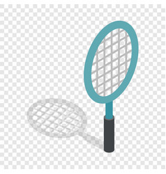 Tennis racket isometric icon vector