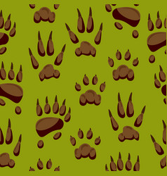 wild animal paw hand steps animalistic pets vector image