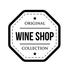 Wine shop logo vintage isolated label vector