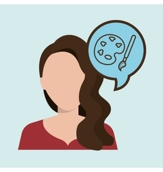 woman girl silhouette idea vector image