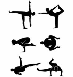 Yoga alternative positions vector